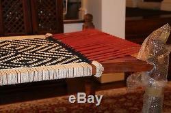 100% handmade, original Indian wooden charpai / charpoy / khatyo / stringbed