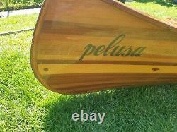 17ft Arkensaw Traveller wooden canoe, handmade by boatbuilder