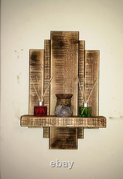 2 Medium Oak Wooden Sconces Shelf Shelves Handmade Rustic Reclaimed Furniture