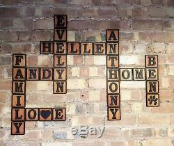 3D Tiles Scrabble Wooden Letter Wall Art Plywood Finished Oil Decor Teen's 14cm