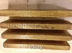 4 X 75cm RECLAIMED STYLE CHUNKY FLOATING SHELF ENGLISH OAK SHELVES WOODEN