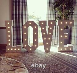 4ft LED LOVE letters for Sale. Wooden make. All Occasions. Hand make