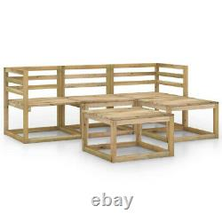 5 Set Garden OUTDOOR Sofa Lounge Bench ottoman Table Seater chairs solid wood