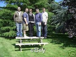 5ft Picnic Bench Heavy Duty Wooden Garden Table