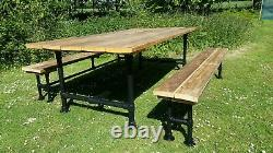 7ft garden dining room table reclaimed wood Kitchen furniture handmade unique