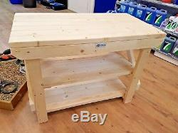 Acorn Work Bench Wooden Handmade Industrial Heavy Duty Table Suitable For Vice