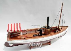 African Queen Historic Steamboat Handmade Wooden Model Boat