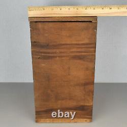 Antique Vintage Primitive Folk Art Wooden Ten Drawer Cheese Box Cabinet Handmade
