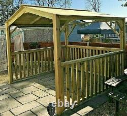 BEST WOODEN HOT TUB CANOPY-GAZEBO-OUTDOOR SHELTER, 2.6 metre Square