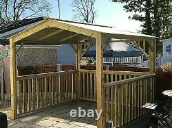 BEST WOODEN HOT TUB CANOPY-GAZEBO-OUTDOOR SHELTER, 2 to 2.9 M square