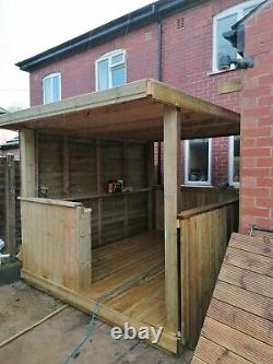 BEST WOODEN HOT TUB CANOPY-GAZEBO-OUTDOOR SHELTER UK delivery and intalation