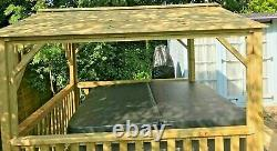 BEST WOODEN HOT TUB CANOPY-OUTDOOR SHELTER, 2.5 metre Square
