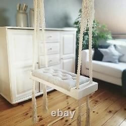 Babyuniquecorn Handmade Wooden Indoor Swing Grey