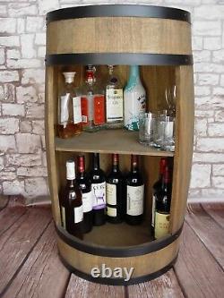 Barrel Bar, barrel 81 cm, Wine cabinet, Wooden Barrel, Drinks Cabinet handmade