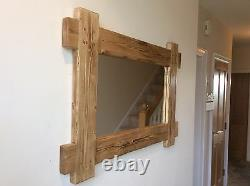 Beautiful quality handmade rustic wooden mirror made from solid pine