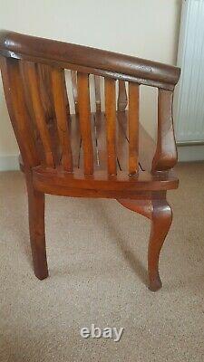 Bench wooden Small antique vintage handmade for display varnished vgc indoor