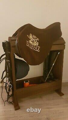 Bespoke Wooden Saddle Stand Handmade To Order Light Oak Colour