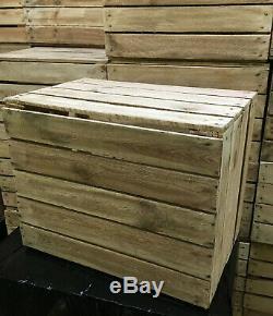 Best Wooden Apple Crates Fruit Boxes Home Decor Rustic Vintage Display Hamper