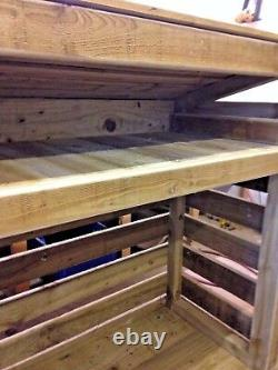Best Wooden Log Store- 4 foot, Assembled, Heavy Duty Hand made, pressure treated
