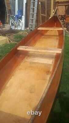 Canadian Canoe Kayak Wooden Large Handmade Boat Dinghy
