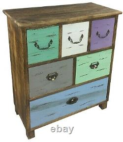 Chest of Drawers Wooden Vintage Rustic Sideboard Storage Cabinet Retro Unit Chic