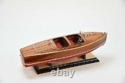 Chris Craft Barrel Back Handmade Wooden Classic Boat Model 21.5