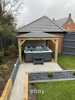Chunky 3m Wooden Gazebo Pergola Hand Made Not Kit Includes Assembly Nationwide