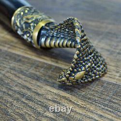 Cobra Walking Stick Bronze Cobra Cane Wooden Handmade Men's Accessories Cane