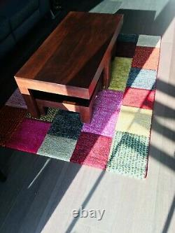 Coffee Table Wooden Dark Mango Wood Excellent Condition