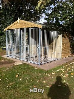 DOUBLE APEX BAR Dog Kennel And Run 3.2m x 3.0m