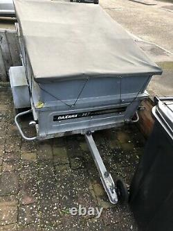 Daxara 147 Lightweight Tipping Trailer, With Cover And Handmade Wooden Barrier