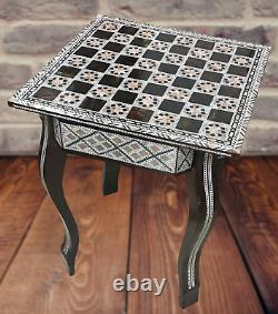 Egyptian Handmade chess Wood table Board Inlaid Mother of Pearl wooden chess
