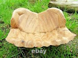 Fair Trade Indonesian Hand Carved Made Wooden Hand Hands Fruit Key Holder Bowl