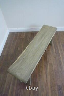 French Farmhouse Wooden Bench Handmade Solid Wood Bench