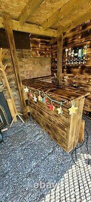 Garden Bar Wooden Outdoor Bar Wine Beer And Gin Garden Party Home Drinks Bar
