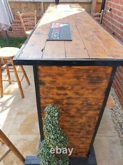 Garden Bar Wooden Outdoor Bar Wine Beer And Gin Garden Party Home Drinks Bar