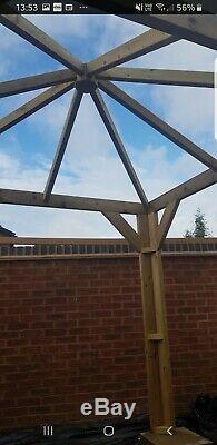 Gazebo/hot tub shelter wooden hand made