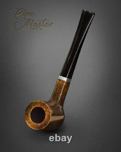 HAND MADE WOODEN TOBACCO SMOKING PIPE BRUYERE 71 Dark Olive Briar Straight + BOX