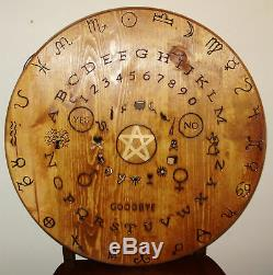 Hand made wooden witches seance / ouija table top