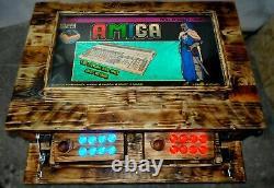 Handmade Arcade Machine Coffee Table. 32 TV 7000 games Wooden Retro Buttons