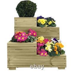 Handmade Large Corner Decking 4 tier wooden garden planter