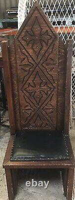 Handmade Medieval Style Wooden Throne Medieval Theme, Wedding, Party