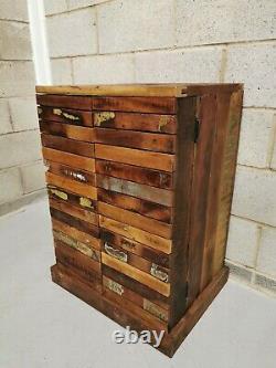 Handmade Rustic Vintage Reclaimed Wooden Drinks Wine Cabinet/ Shelving Storage