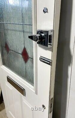 Handmade-bespoke Metal Clad Wooden Front Entrance Door-black-lead Diamond-glass