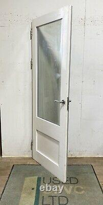 Handmade-bespoke Wooden Back Entrance Door-timber-pine-white-external-exterior