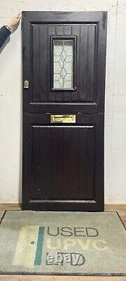 Handmade-bespoke Wooden Barn Stable Door-timber-porthole-lead-external-exterior