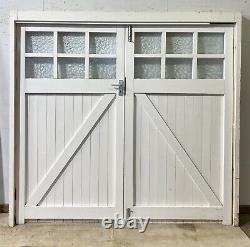 Handmade-bespoke Wooden Double Garage Doors-timber-georgian Bars-white-side Hung