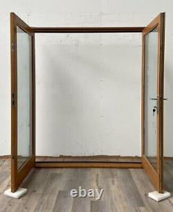 Handmade-bespoke Wooden French Doors-engineered Oak Veneer-external-exterior-set