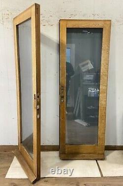 Handmade-bespoke Wooden French Doors-hardwood-solid Oak-all Glass-external-brown