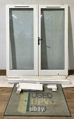 Handmade-bespoke Wooden French Doors-timber-white-all Glass-external-exterior